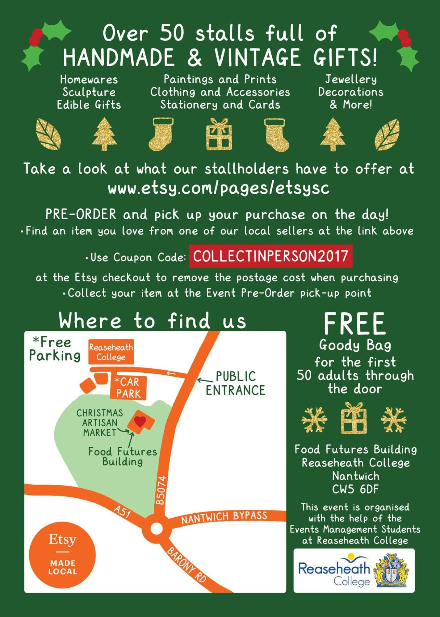 Etsy Made Local UK, Nantwich, Christmas in Nantwich