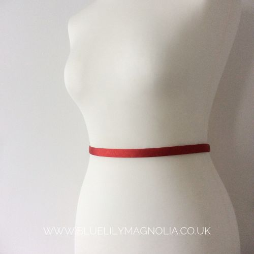 Thin red alternative wedding belt