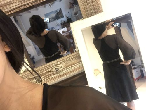 bespoke black velvet dress back
