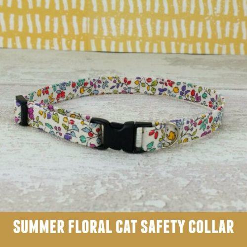 Cat Collar Summer Garden Floral