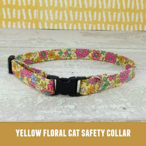 Cat Collar Yellow Floral