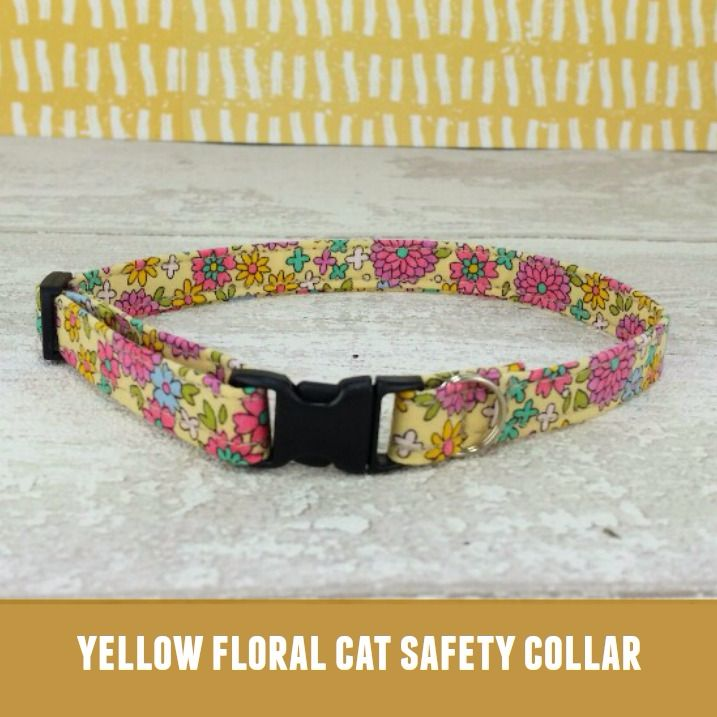 Cat Collar Yellow Floral