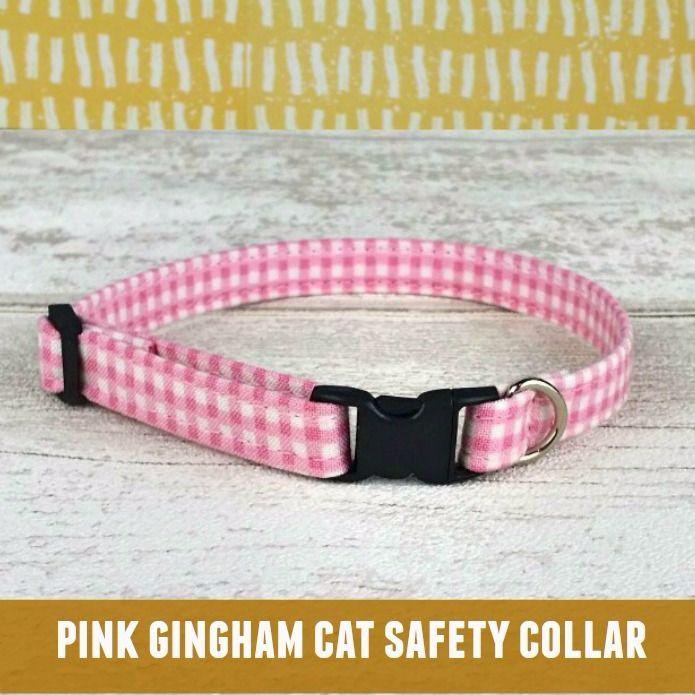 Cat Collar Pink Gingham