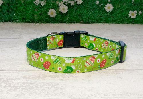 Christmas Mittens Dog Collar