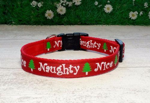 Naughty or Nice Christmas Dog Collar