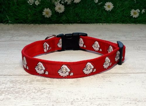 Red Santa Dog Collar