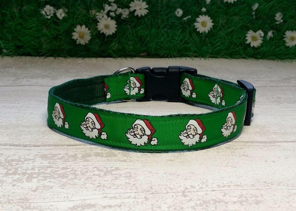 Green Santa Dog Collar