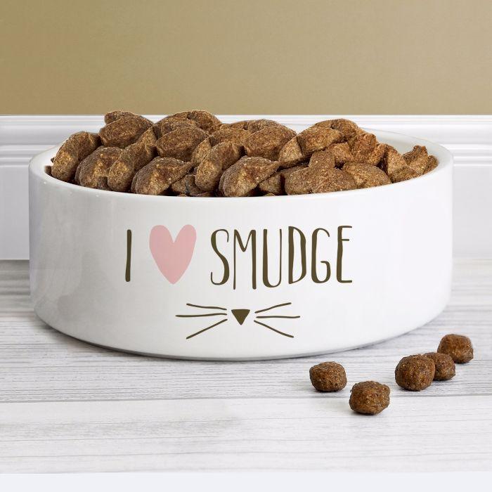 Personalised Cat Bowl I love