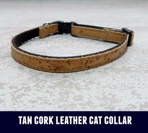 Cat Collar Tan Cork Leather