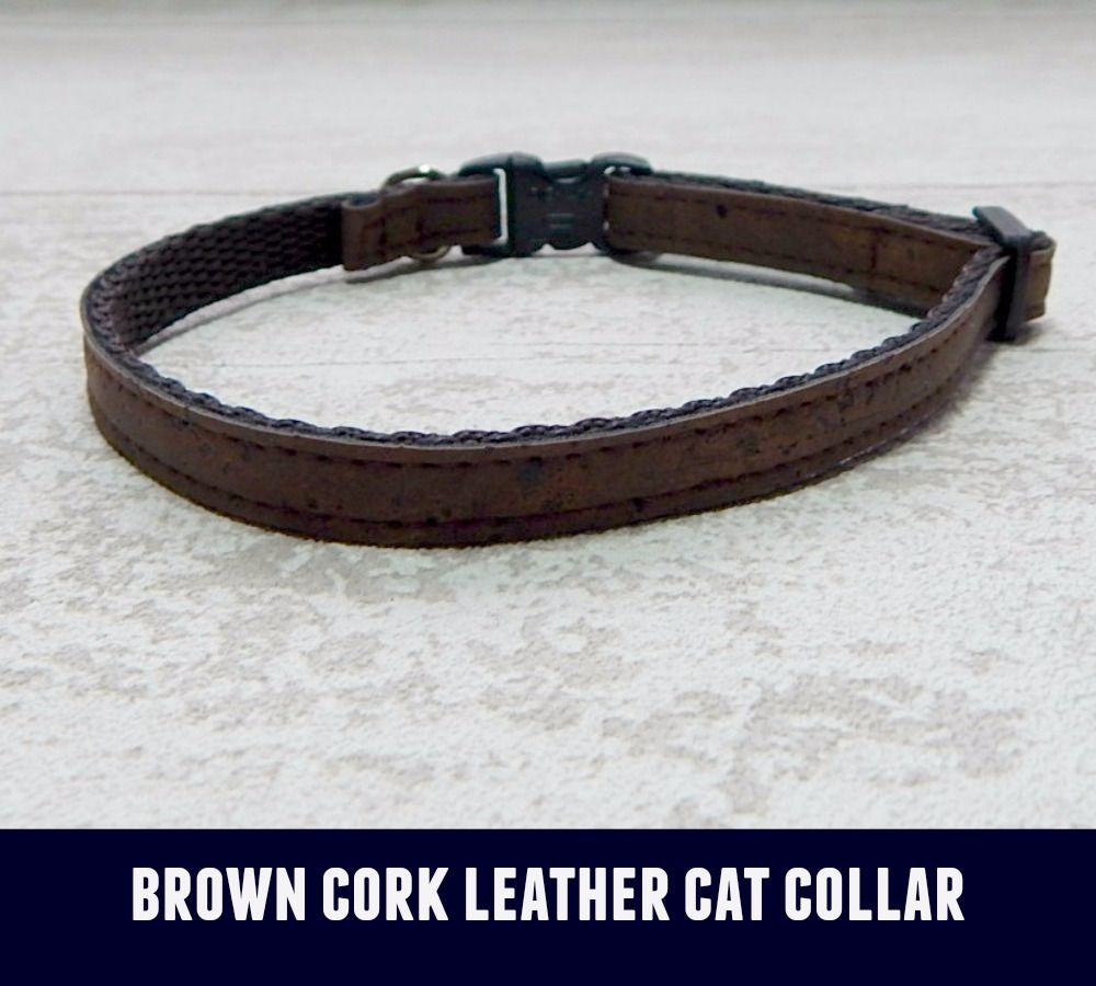 Cat Collar Brown Cork Leather