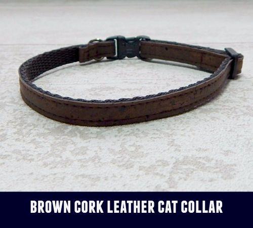 Cat Collar Brown Cork Leather