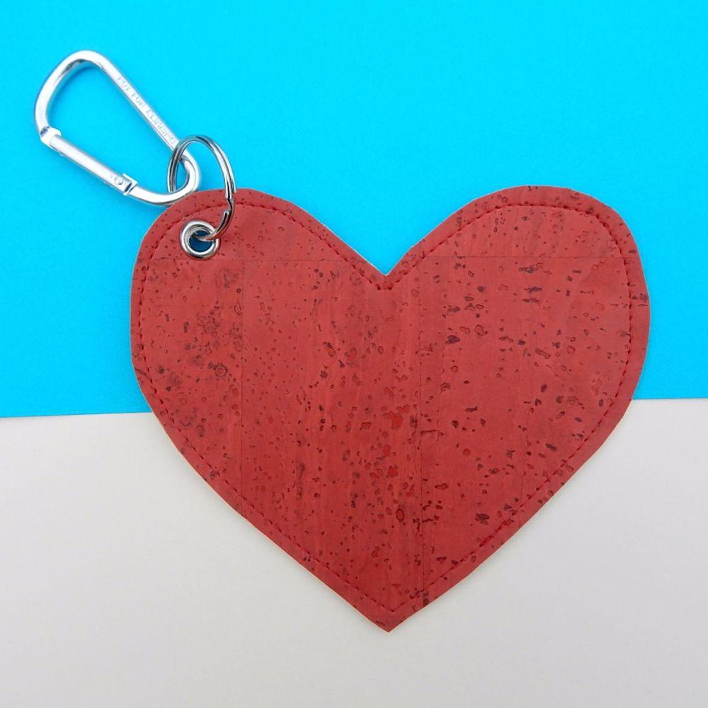 Cork Leather Poo Bag Holder Heart