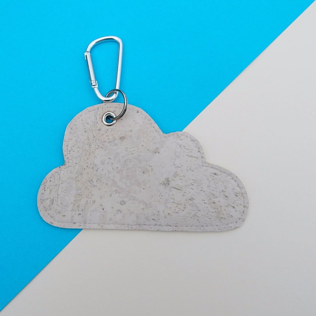 Cork Leather Poo Bag Holder Cloud