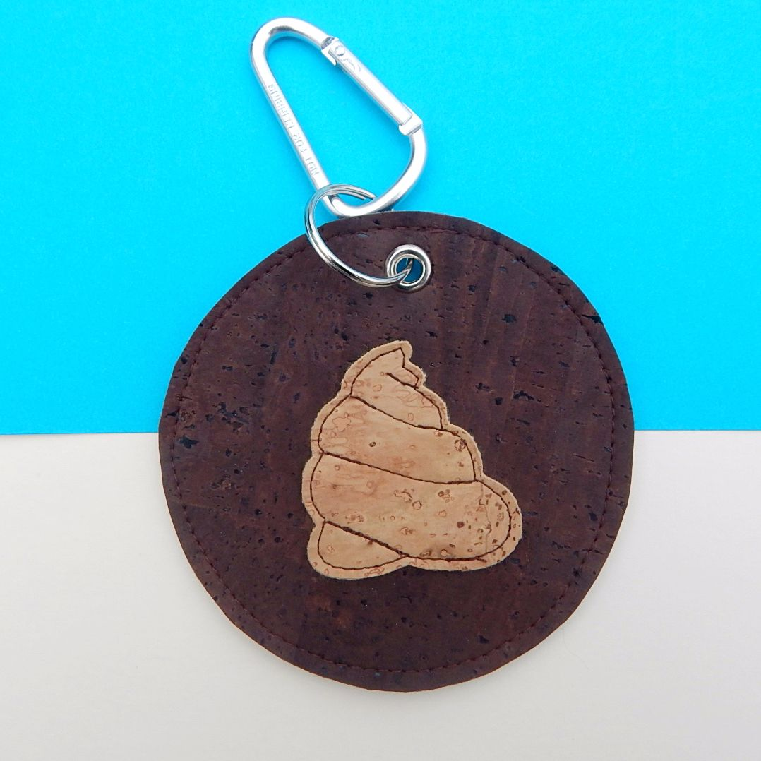 Cork Leather Poo Bag Holder
