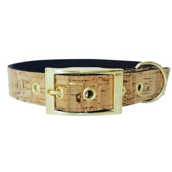 Dog Collar Gold/Natural Cork Leather