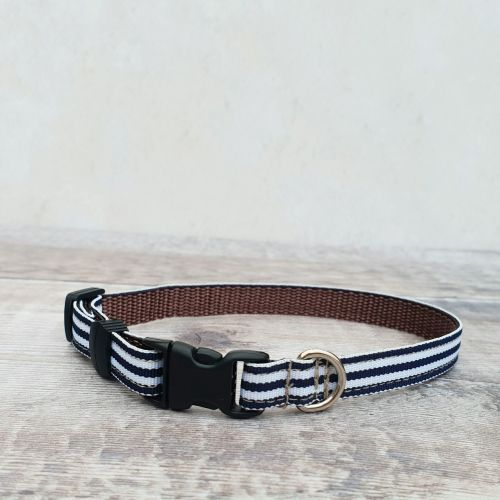 Cat Safety Collar Nautical Stripe