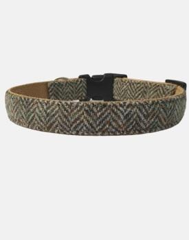 Harris Tweed Dog Collar Sport Edition Brown