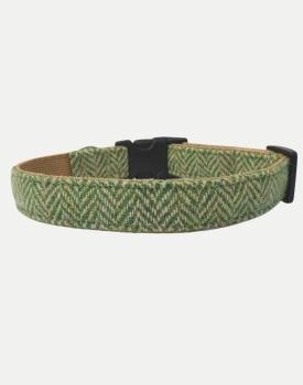 Harris Tweed Dog Collar Sport Edition Green