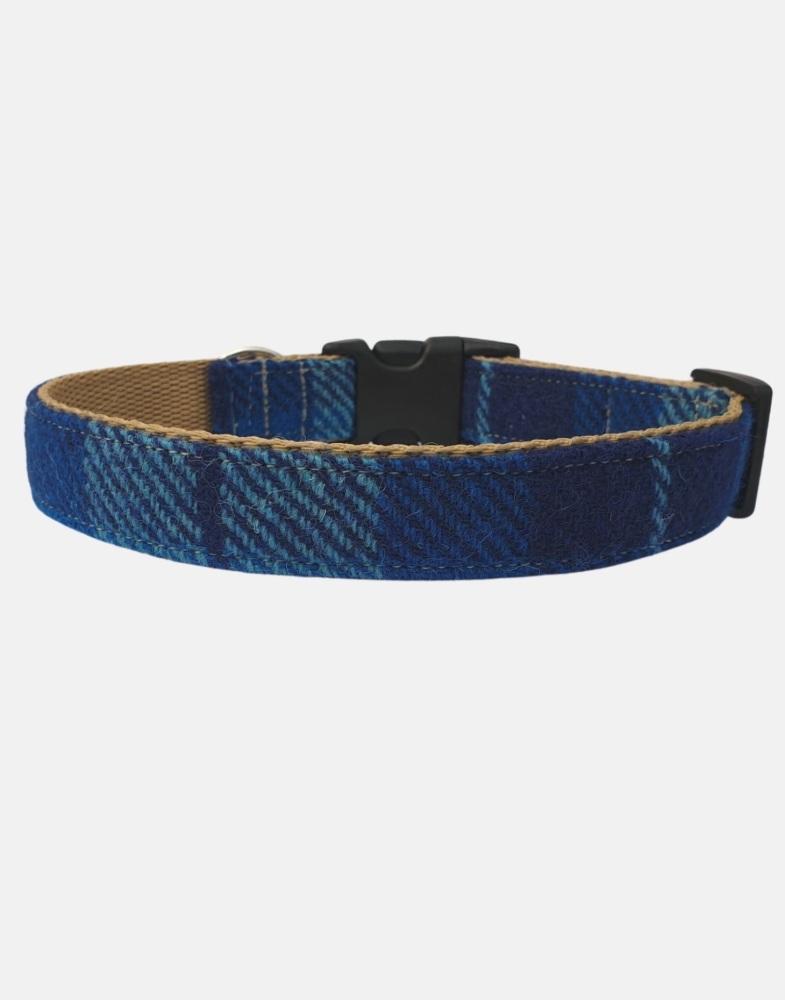 Harris Tweed Dog Collar Sport Edition Blue Check