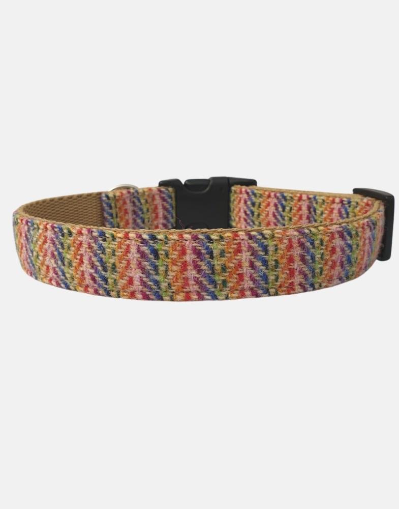 Harris Tweed Dog Collar Sport Edition Rainbow