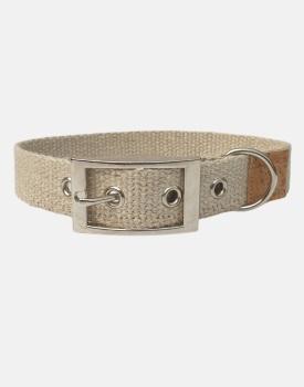 Organic Hemp Dog Collar Natural