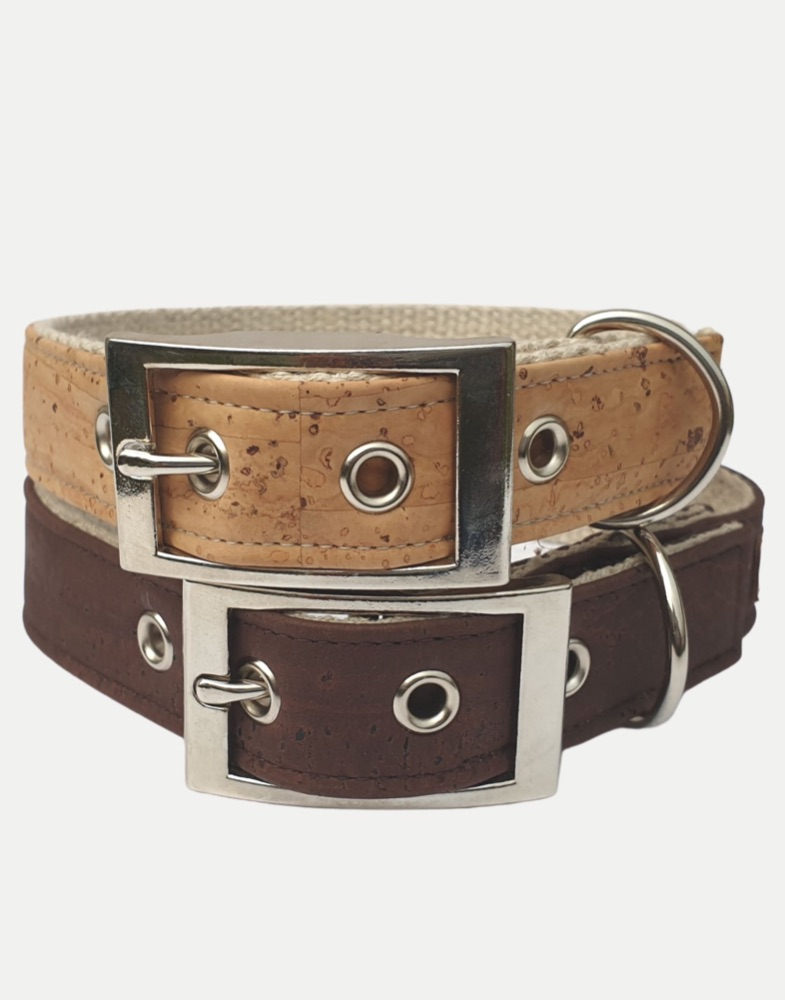 Cork and Hemp Dog Collars