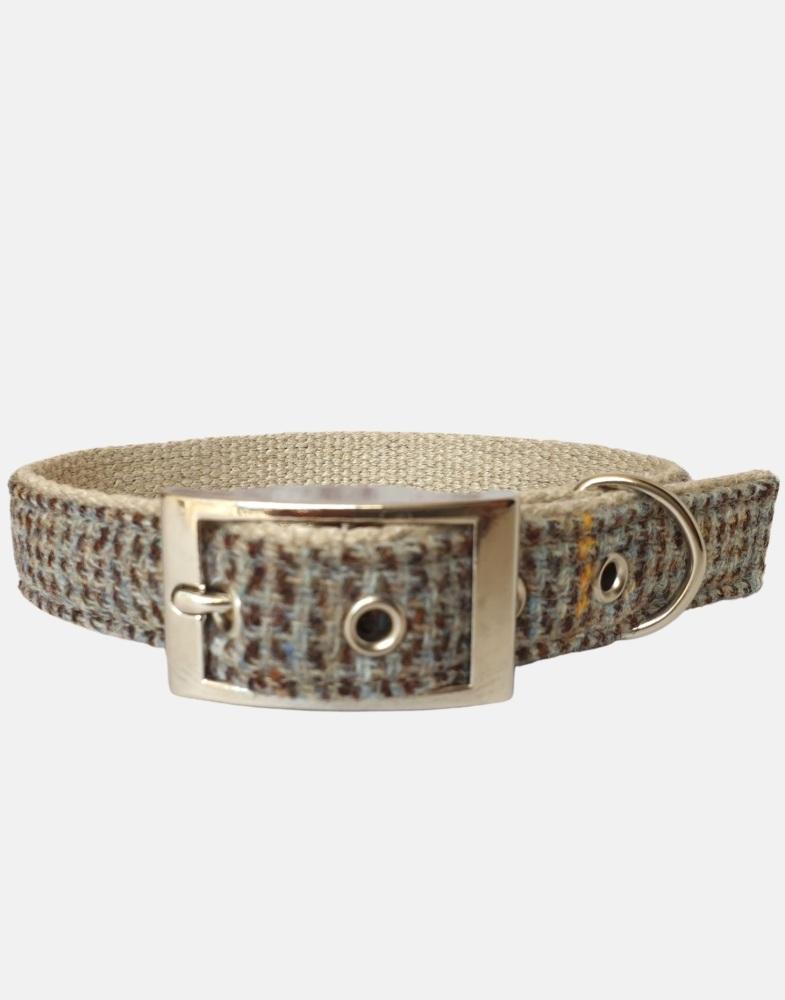 Harris Tweed Dog Collar Corncrake