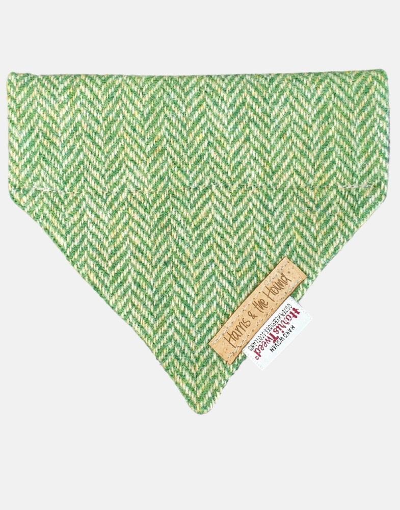 Harris Tweed Dog Bandana Green