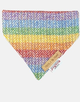 Harris Tweed Dog Bandana Rainbow