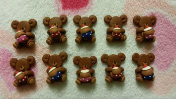 Pack of 10 Mini Bears with Cup-Cakes