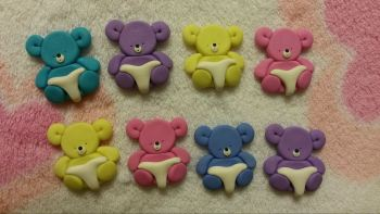 Pack of 8 Baby Bears in Nappy