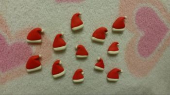 Pack of 12 Santa hats