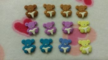 Pack of 12 Baby Bears in Nappy