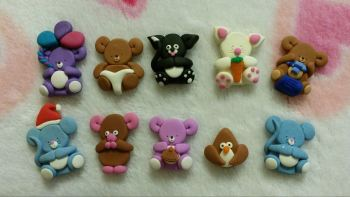 Pack of 10 assorted embellishments