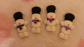 Pack of 4 Snow Men