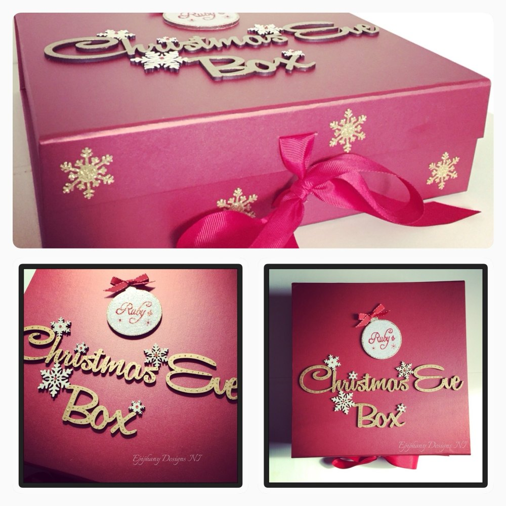 Personalised Red Christmas Eve Box