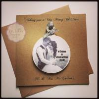 Christmas Card with Hanging Photo Bauble Decoration
