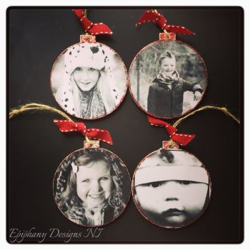 Photo Bauble 8cm with Personalised Message