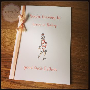 You're leaving to have a baby personalised card
