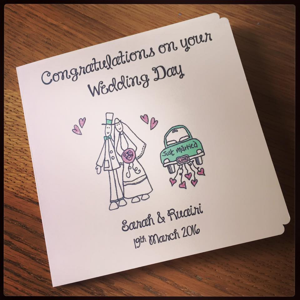 Personalised Congratulations Card - Wedding day