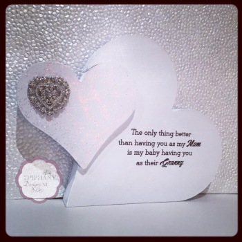 Freestanding Double Heart with Personalised quote