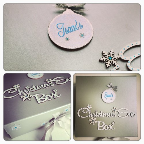 Personalised Silver Christmas Eve Box