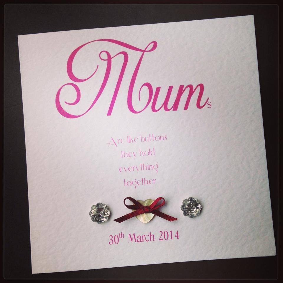 Mothers day card - mothers are buttons