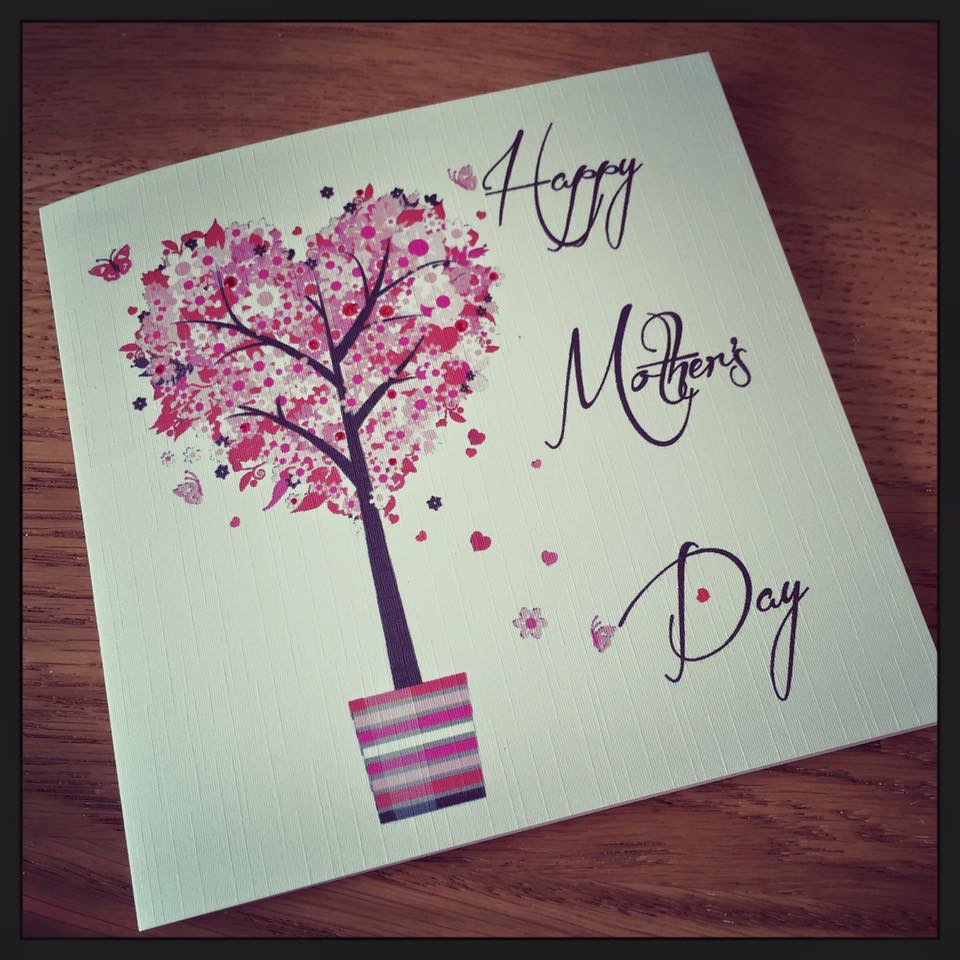 Mothers day card - heart tree