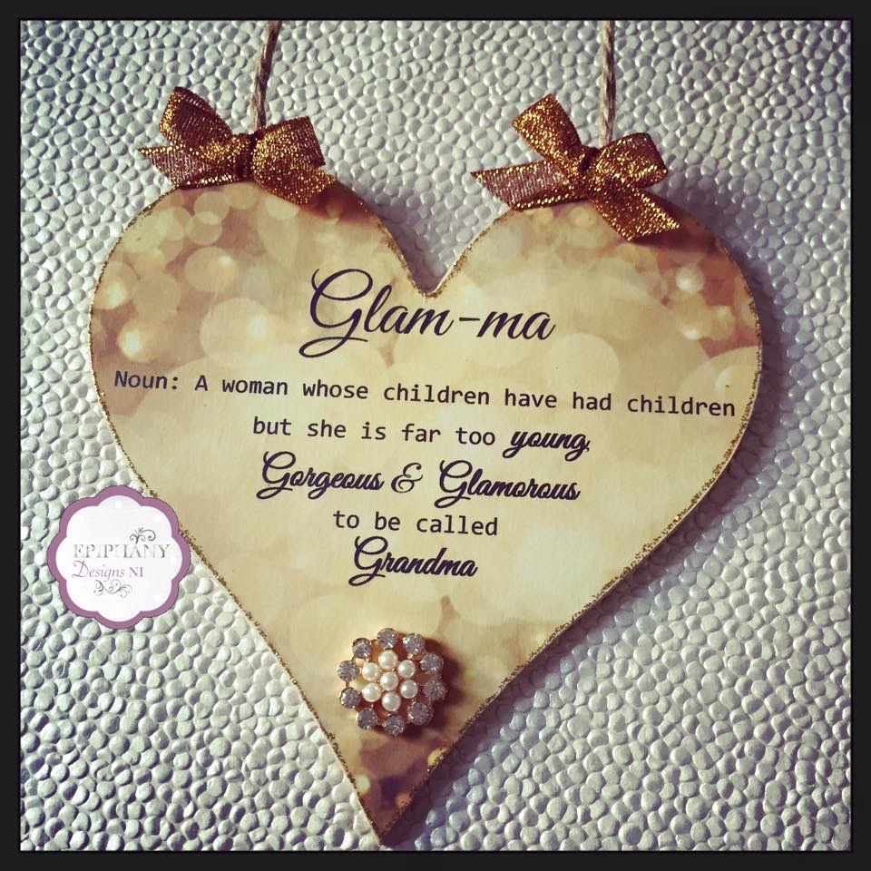 Heart- glam ma quote - gold