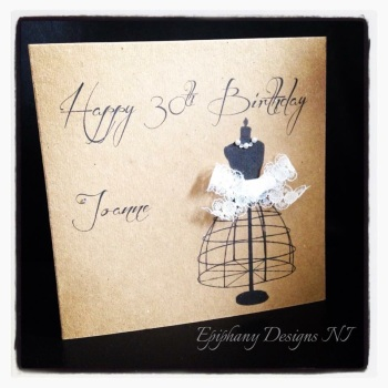 Birthday card -vintage/lace - sister, friend, mother, 18th, 21st, 30th