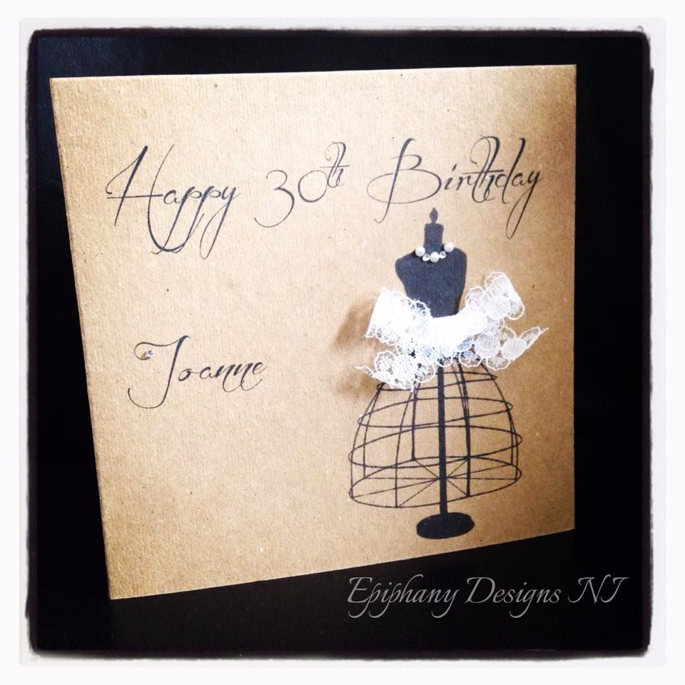 vintage birthday cards with lace 30th