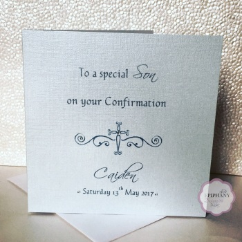 Chic Boutique Range Commumion / Confirmation Card Boy