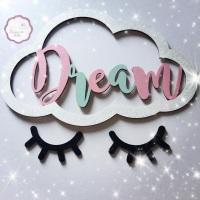 Dream Cloud with Sleeping Eyelashes
