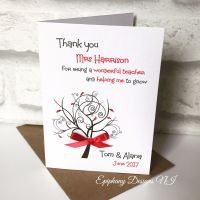Teacher / Classroom Assistant Thank You Card - help me grow tree design